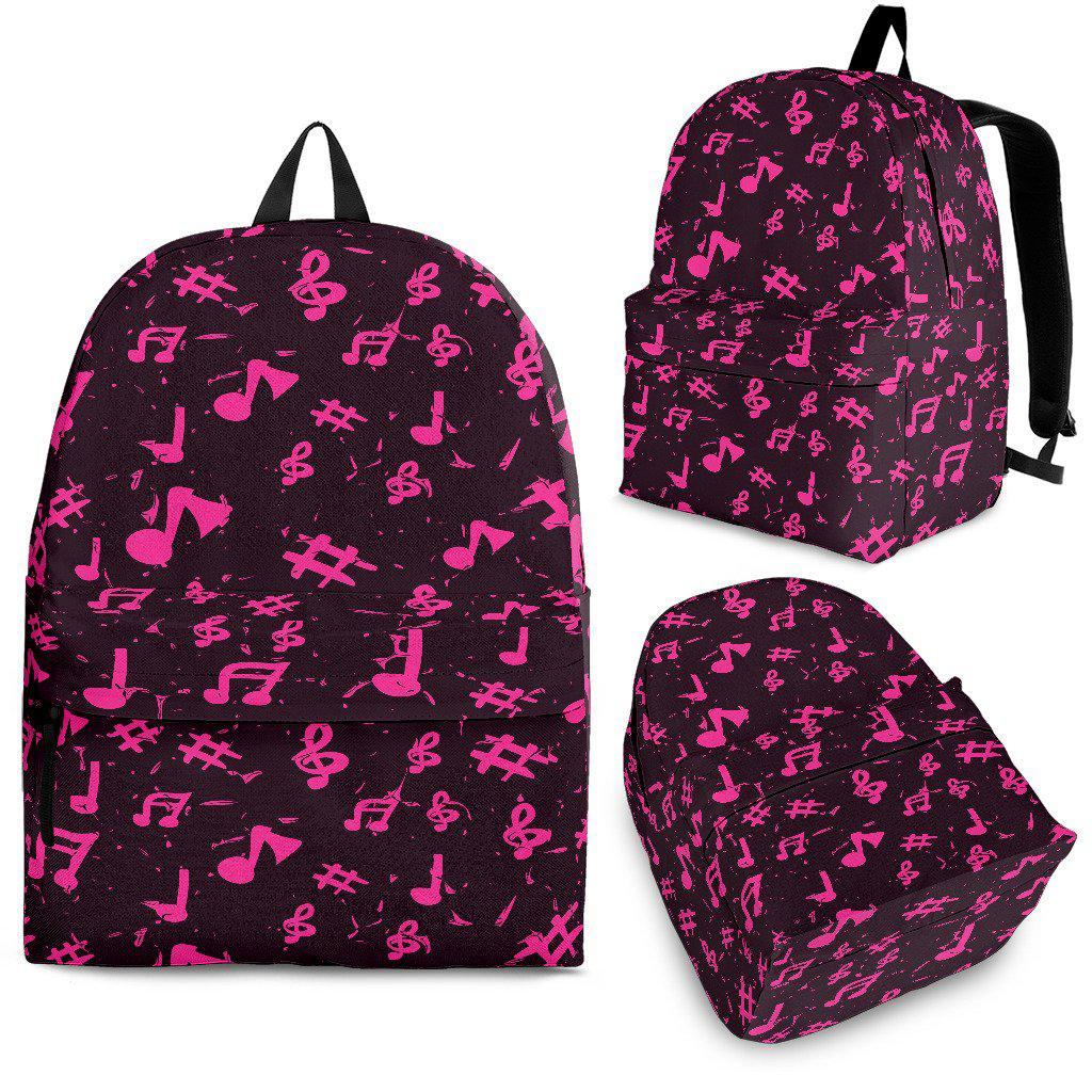 Shopeholic:Pink Music Note Backpack