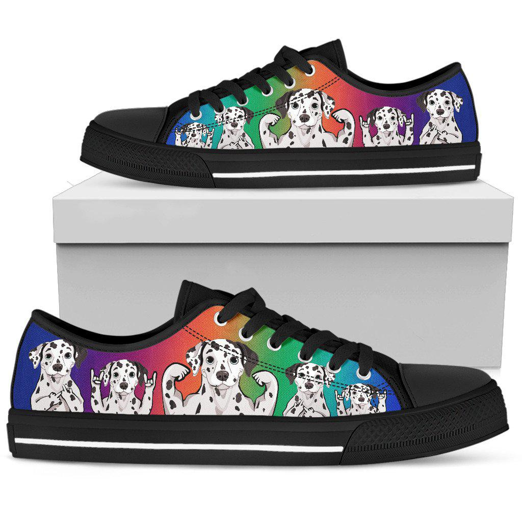 Shopeholic:Dalmatian Women's Low Top Shoe