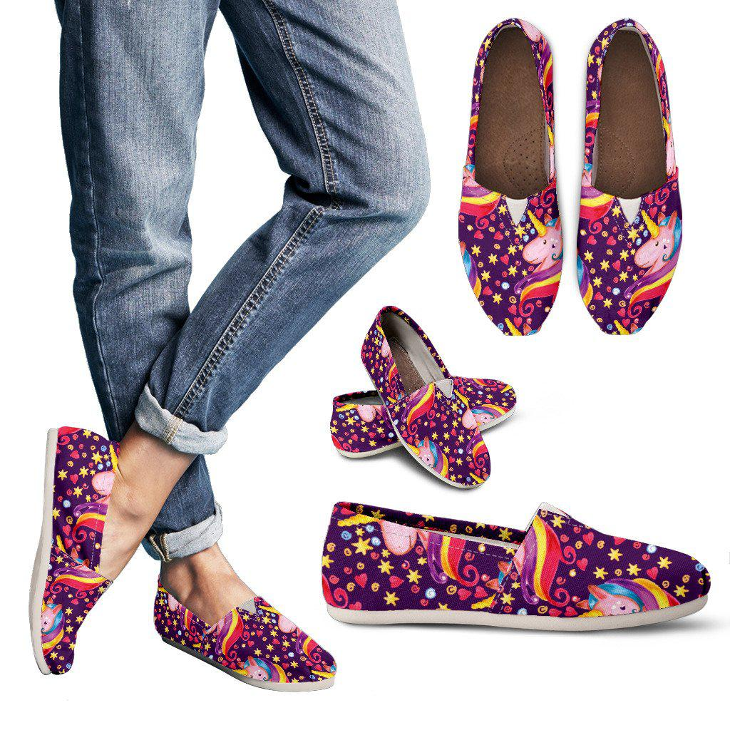 Shopeholic:Rainbow Unicorn Women's Casual Shoes