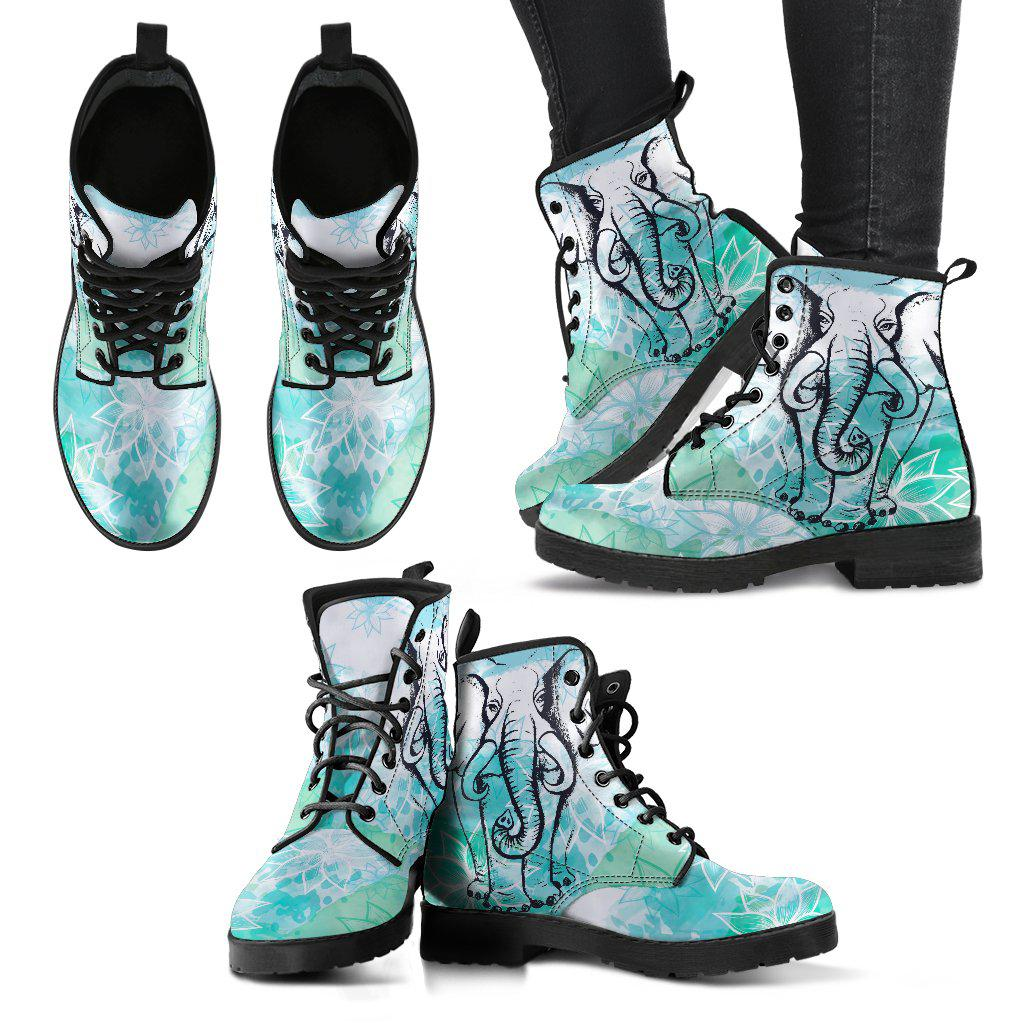 Shopeholic:Lotus Elephant Women's Leather Boots