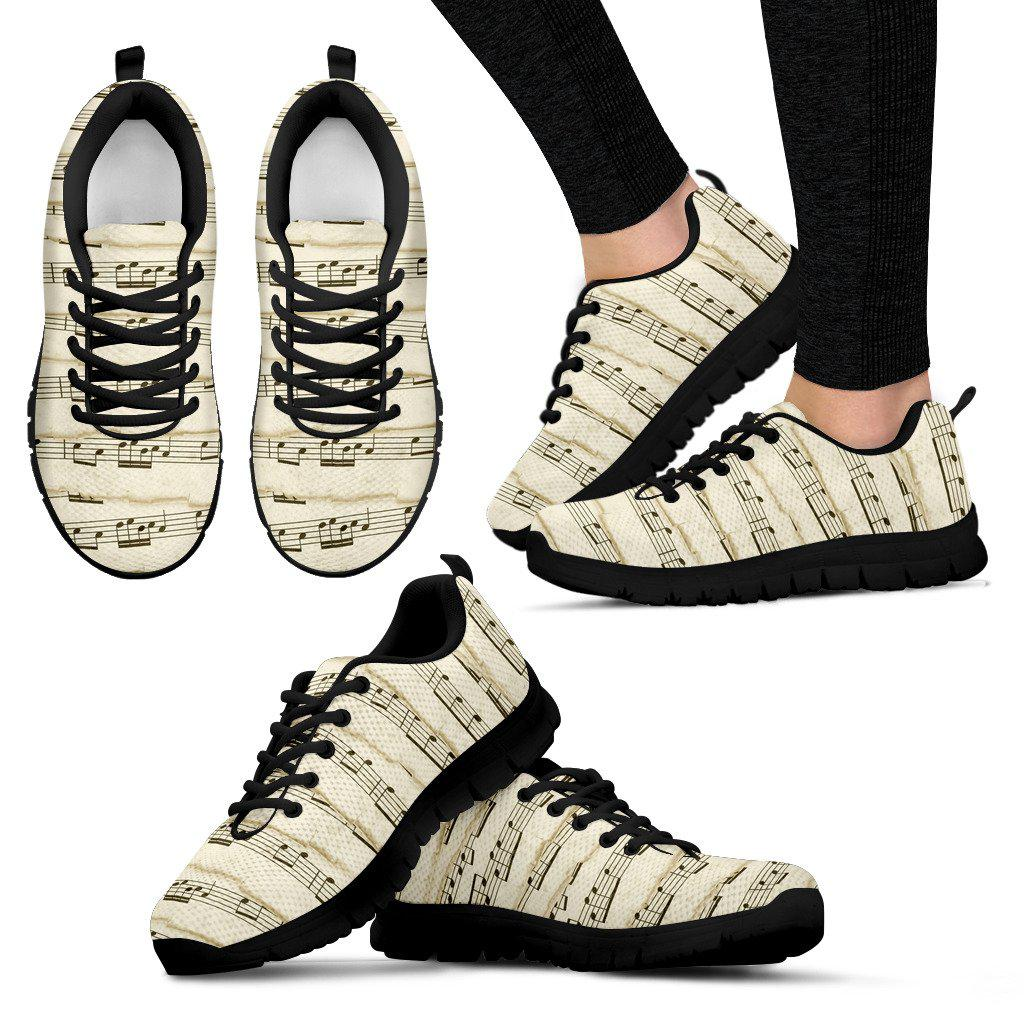 Shopeholic:Music Notes Women's Sneakers