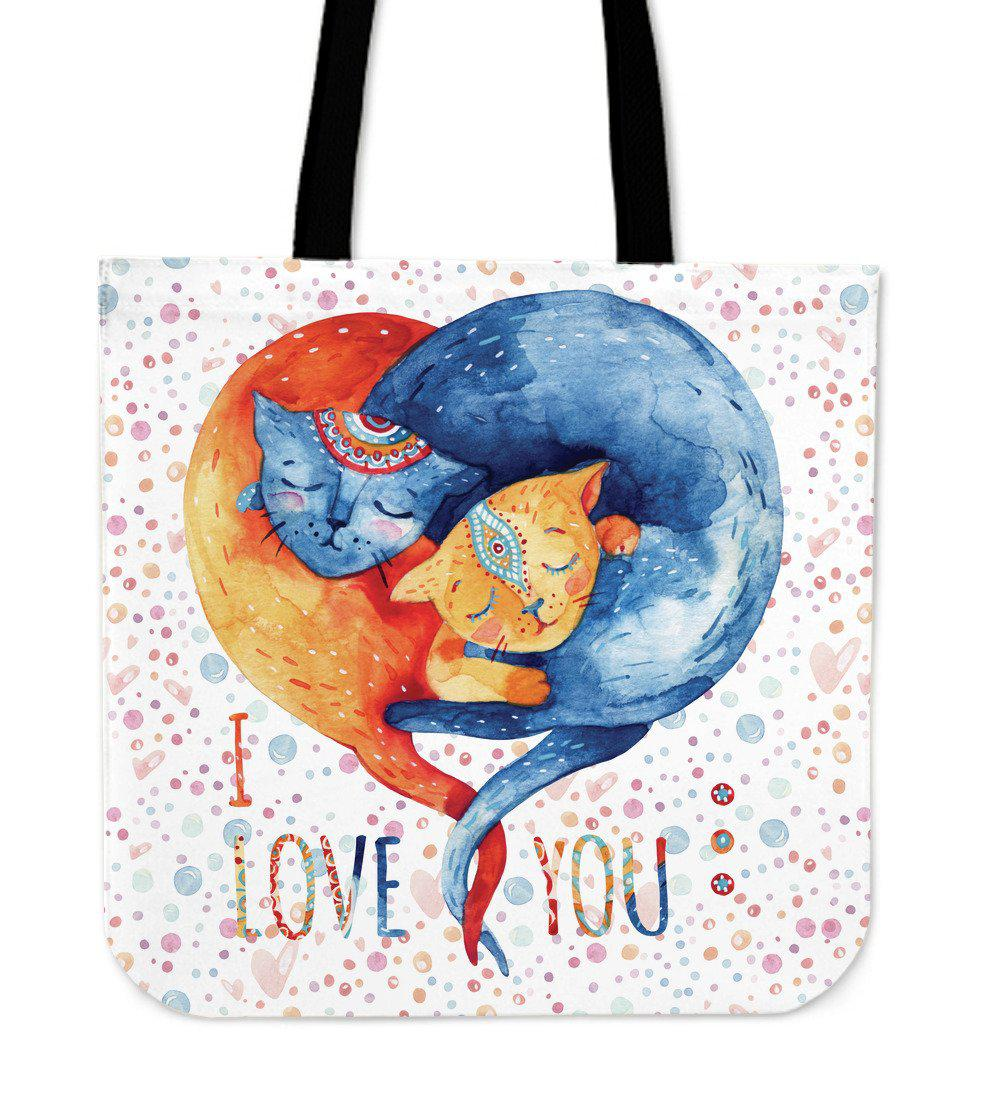 Shopeholic:Cat Love Cloth Tote Bag