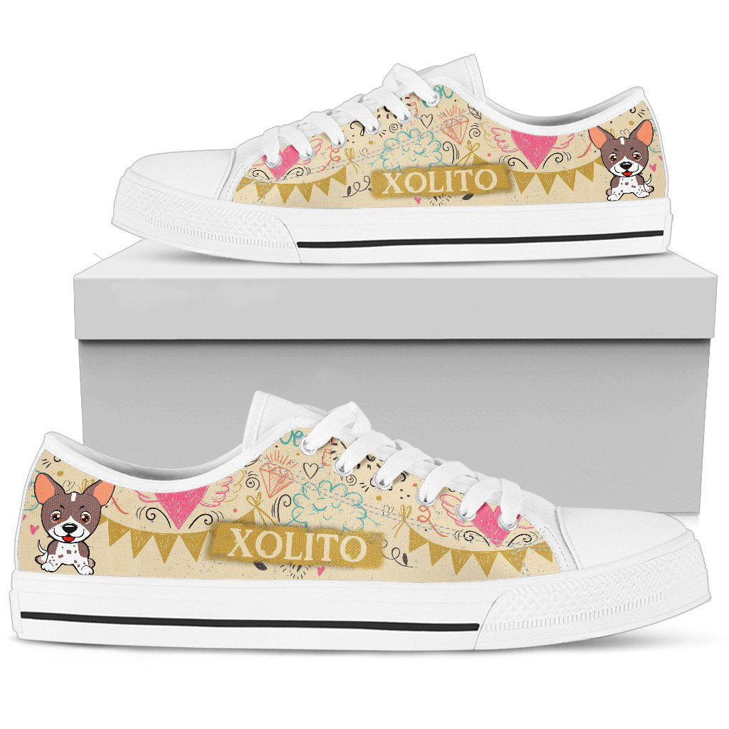 Shopeholic:Xoloitzcuintle Women's Low Top Shoe