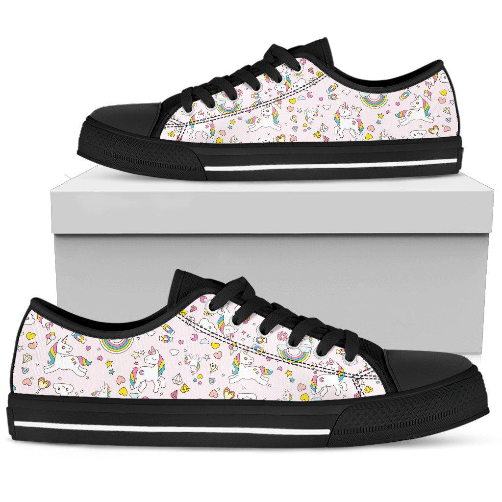 Shopeholic:Unicorn Pink 001 Women's Low Top Shoes