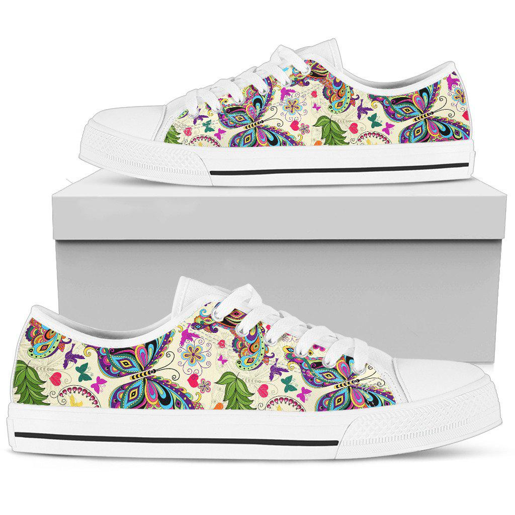 Shopeholic:Butterfly Low Top White