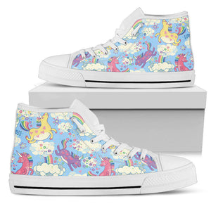 Shopeholic:Unicorn Clouds Women's High Top Shoes