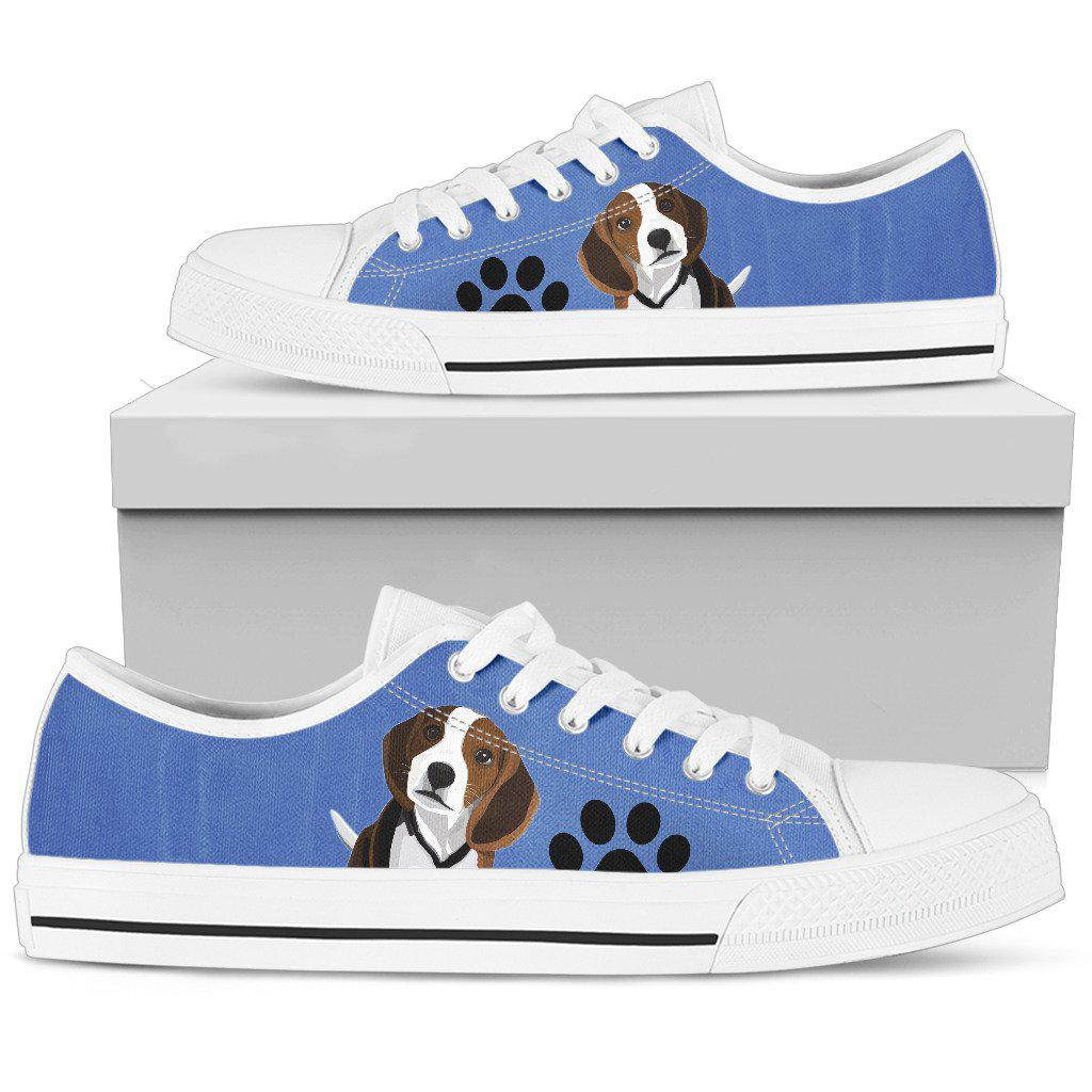 Shopeholic:Beagle Women's Low Top Shoe