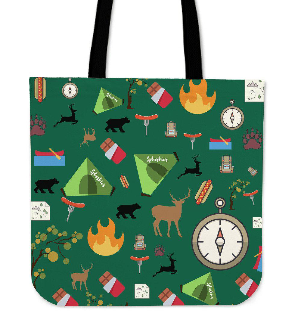 Shopeholic:Camping Essentials Cloth Tote Bag