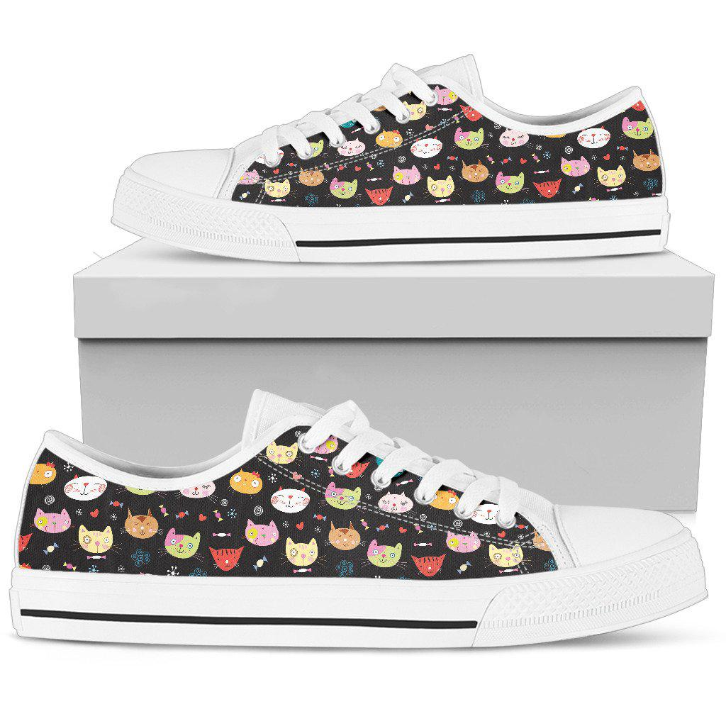 Shopeholic:Cat Women's Low Top Shoe