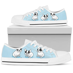 Shopeholic:Baby Bulldog Women's Low Top Shoe