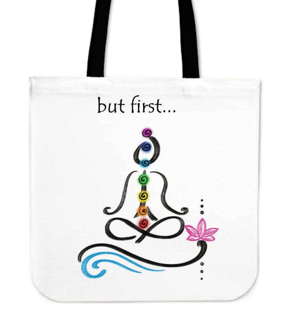Shopeholic:But First Meditation Cloth Tote Bag