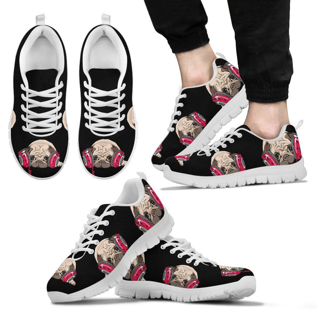 Shopeholic:Pug Listen Music Sneaker Men's
