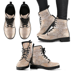 Shopeholic:Beige Elephant Women's Handcrafted Boots