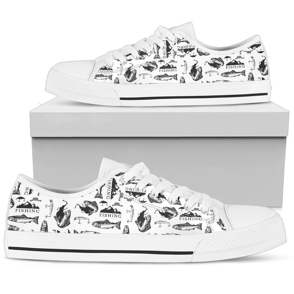 Shopeholic:Fishing Women's Low Top Shoe