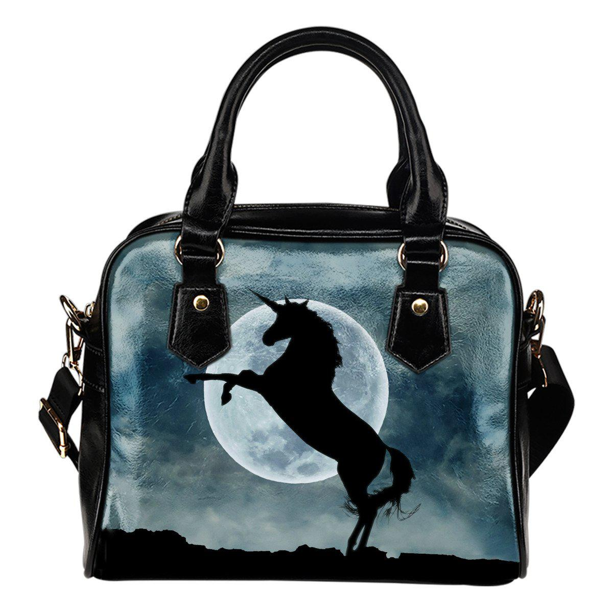 Shopeholic:Moonlight Unicorn Leather Handbag