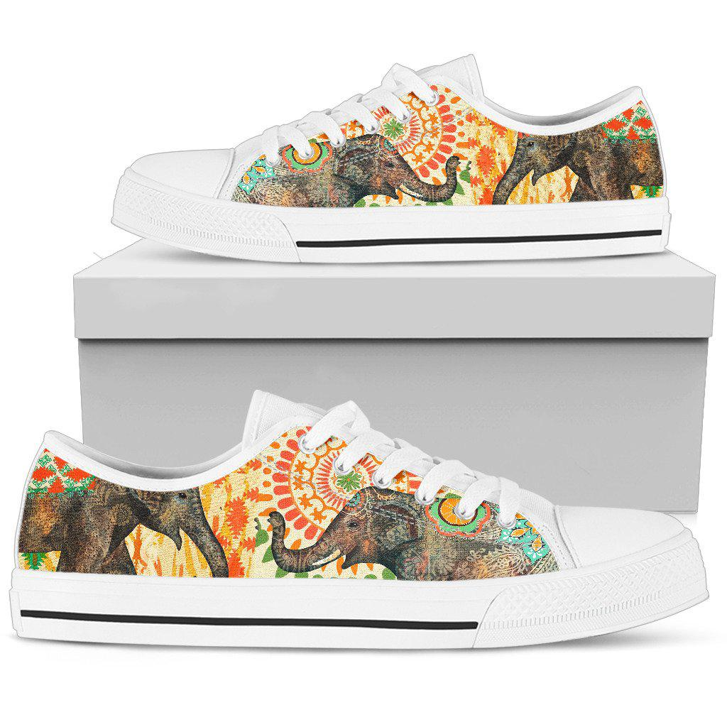 Shopeholic:Elephant Men's Low Top Shoe