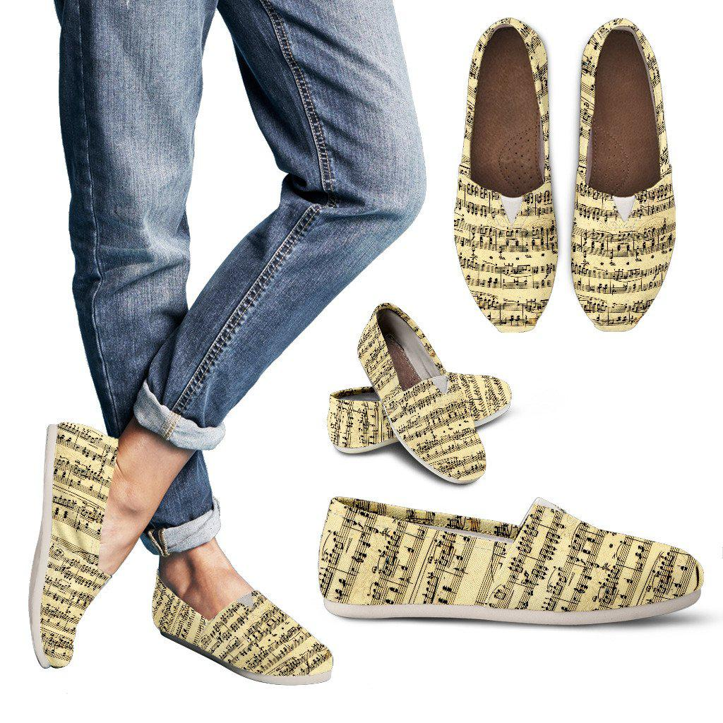 Shopeholic:Sheet Music Design Womens Casuals Shoes