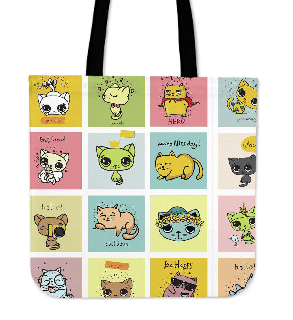 Shopeholic:Comic Cat Tote Bag