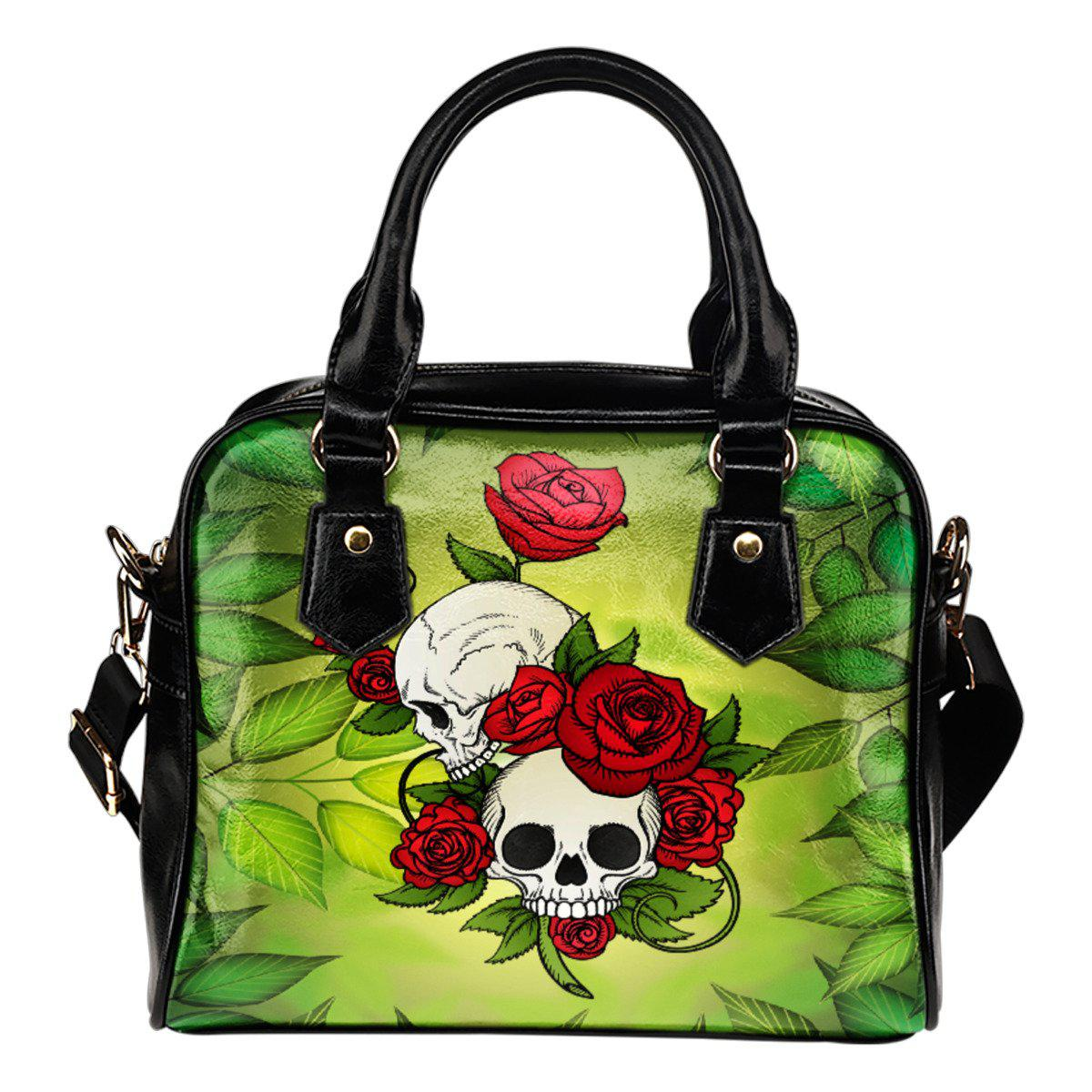 Shopeholic:Skulls Leather Shoulder Bag