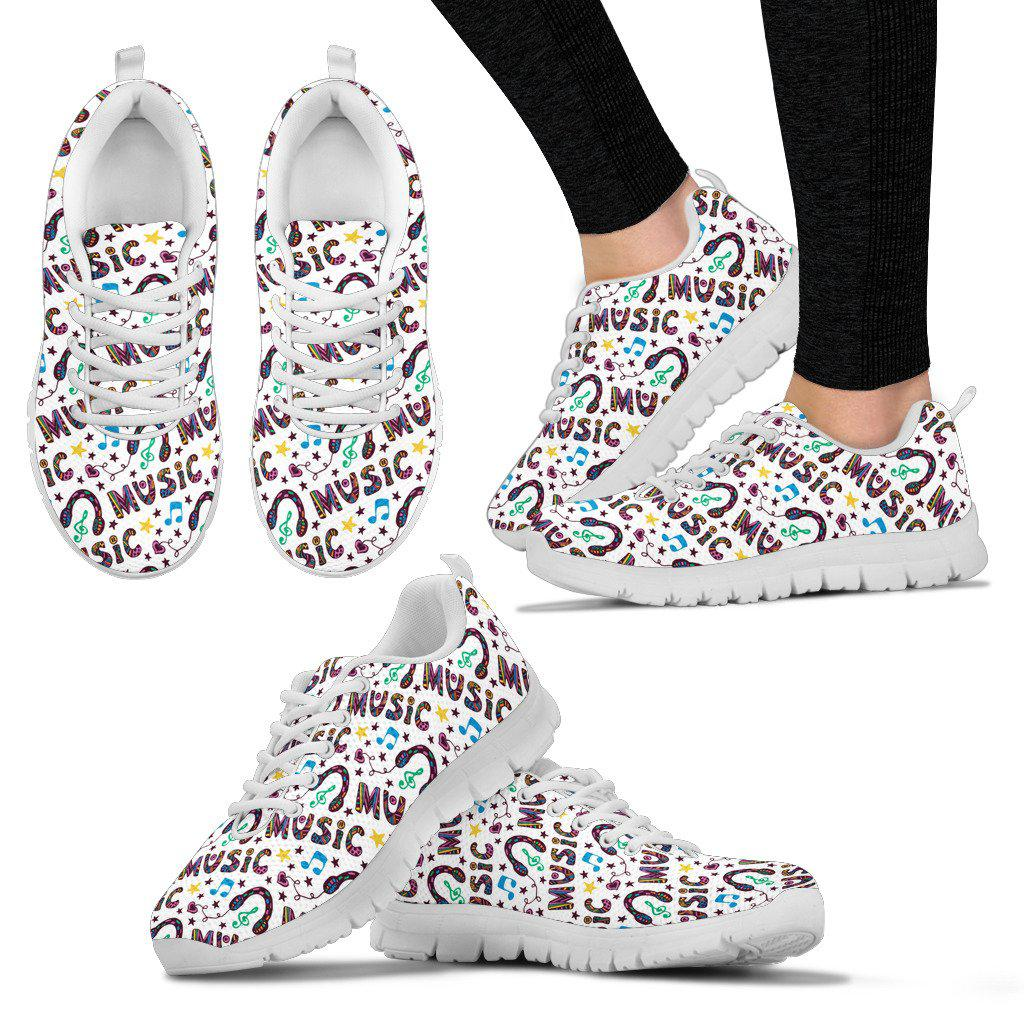 Shopeholic:Music is my life Womens Sneakers