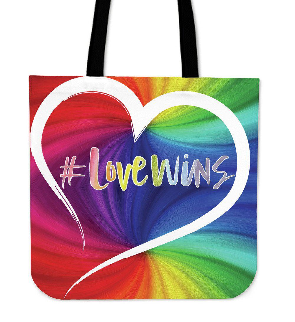 Shopeholic:Love Wins Tote Bag