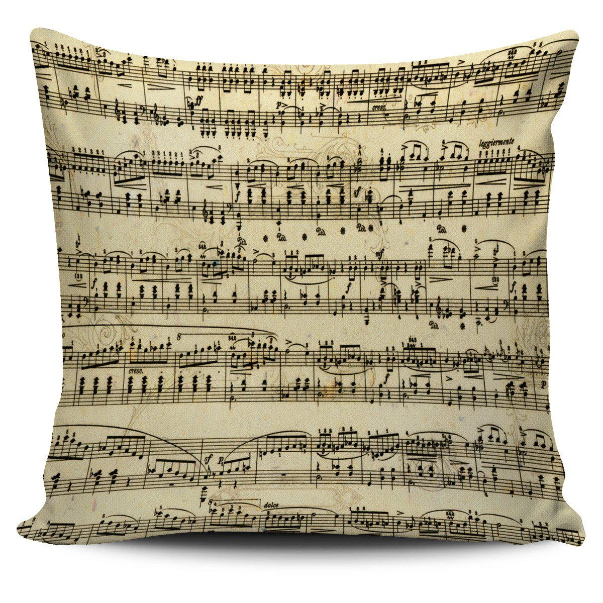 Shopeholic:Sheet Music Pillow Cover