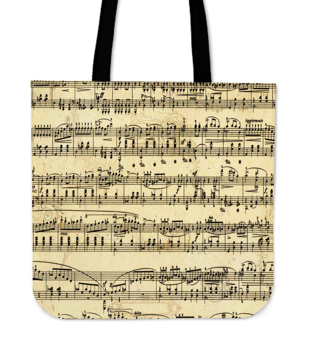 Shopeholic:Sheet Music Tote Bag