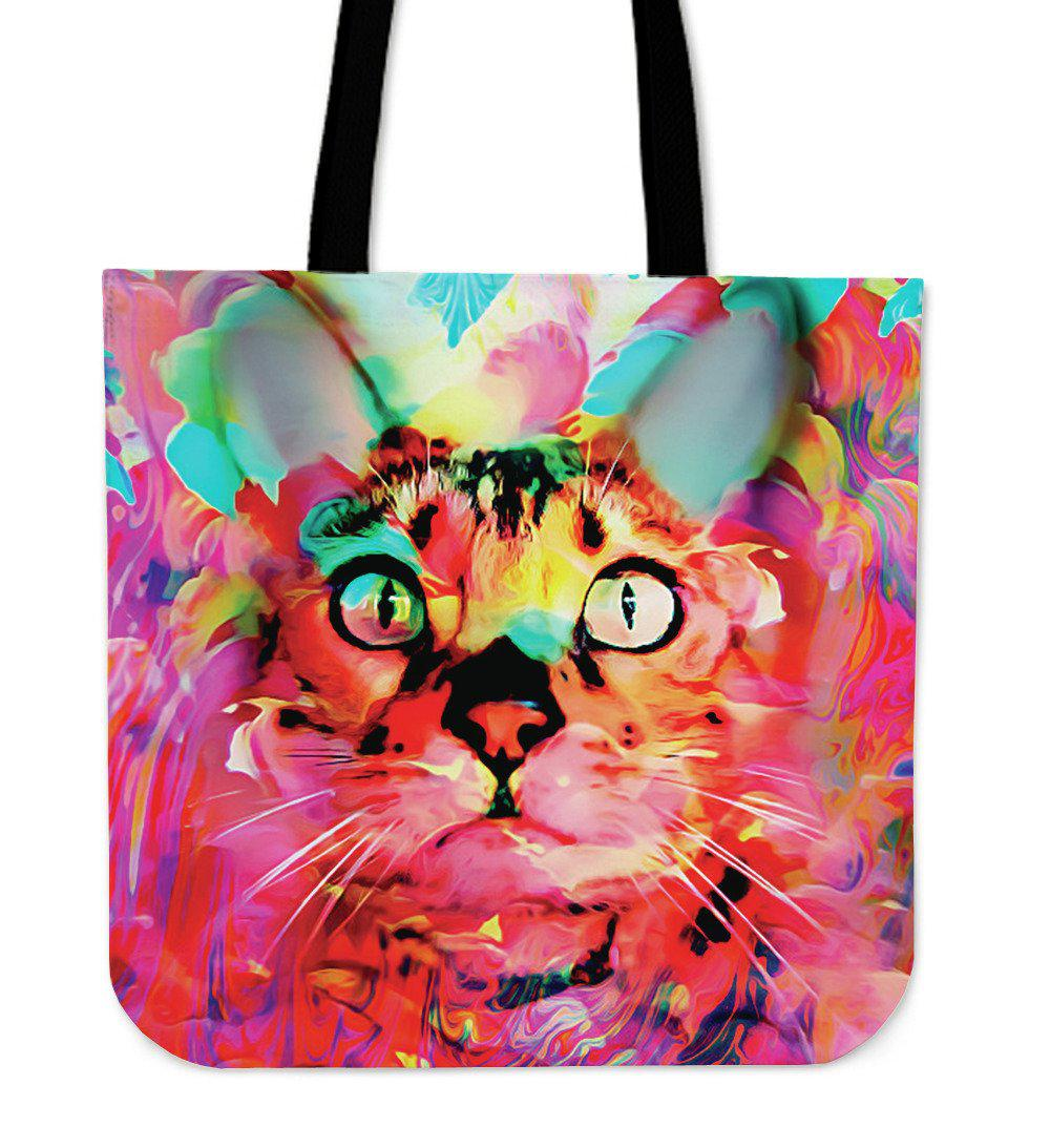 Shopeholic:Pink Cat Tote Bag