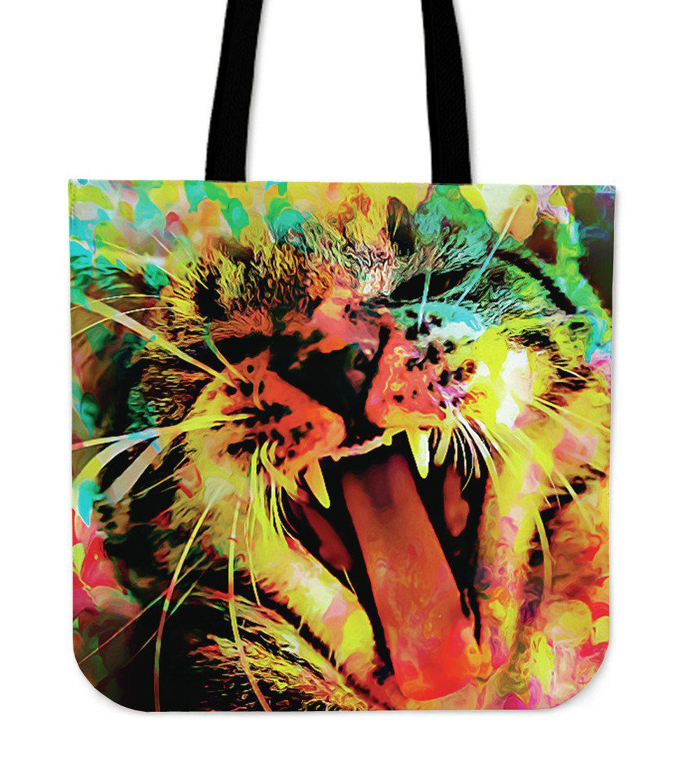 Shopeholic:Wild Cat Tote Bag