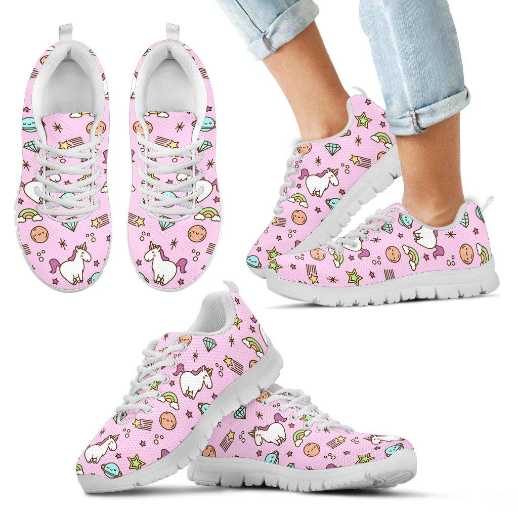 Shopeholic:Unicorns Pink - Kid's Sneakers