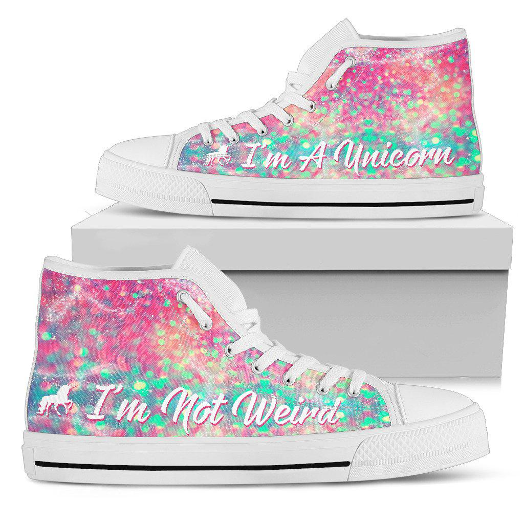 Shopeholic:I'm A Unicorn Women's High Top Shoes