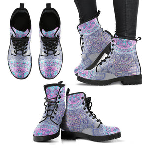 Shopeholic:Elephant Mandala 04 Women's Leather Boots