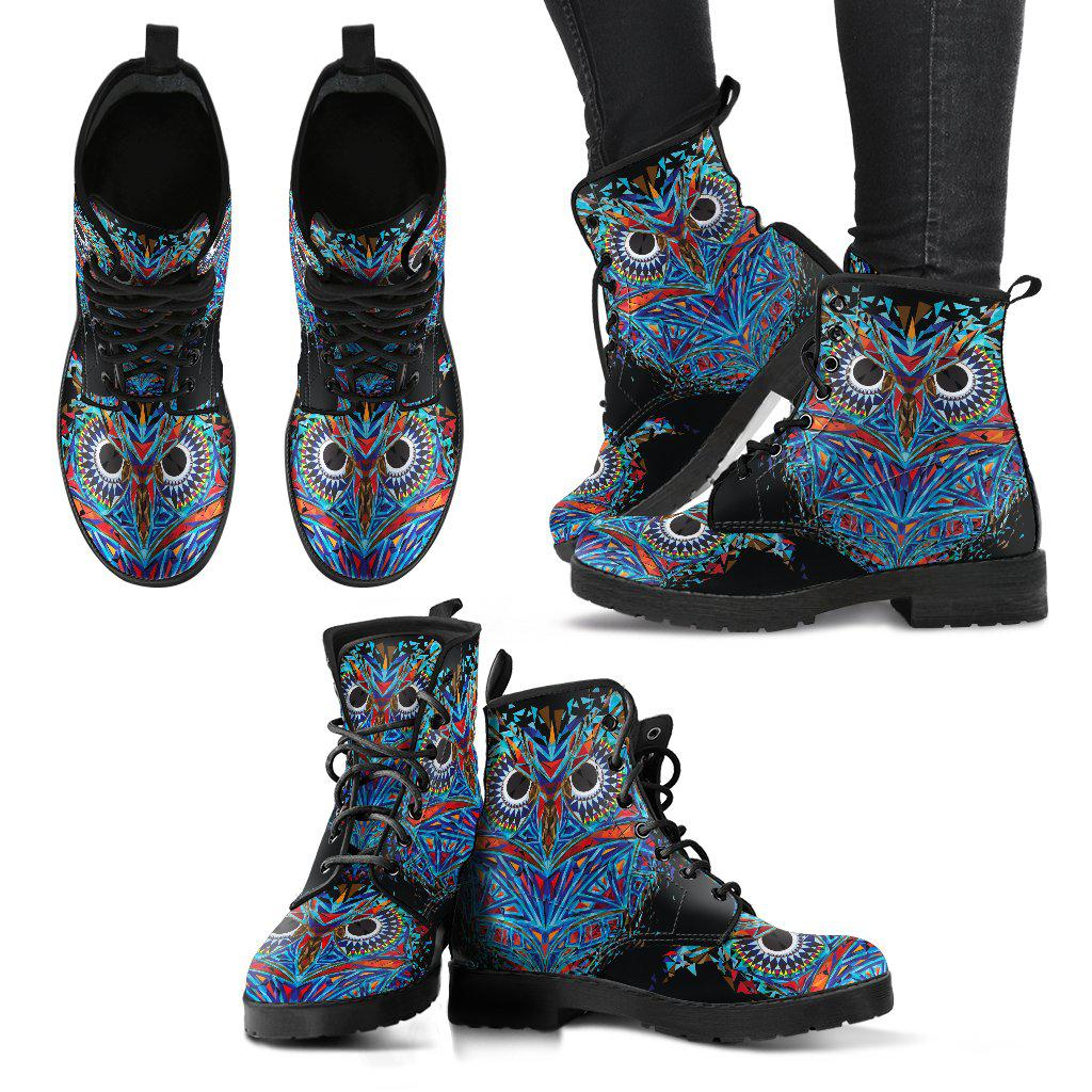 Shopeholic:Owl Women's Leather Boots