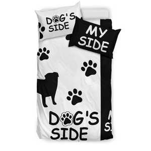 Shopeholic:PUG DOG'S SIDE MY SIDE Bedding Set