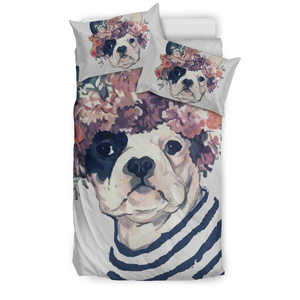 Shopeholic:FLOWER FRENCH BULLDOG Bedding Set