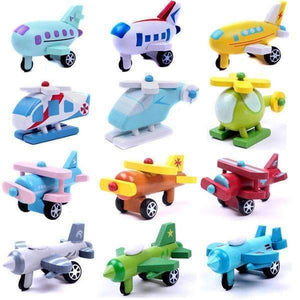 12 Small Wooden Aircrafts-Shopeholic