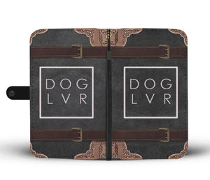 Shopeholic:DOG LVR Wallet Phone Case