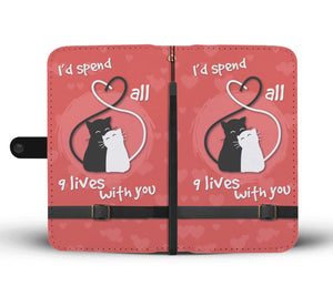 Shopeholic:9 Lives Wallet Phone Case