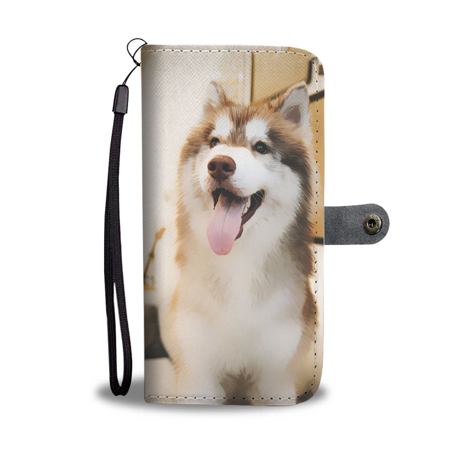 Shopeholic:Husky Wallet Phone Case
