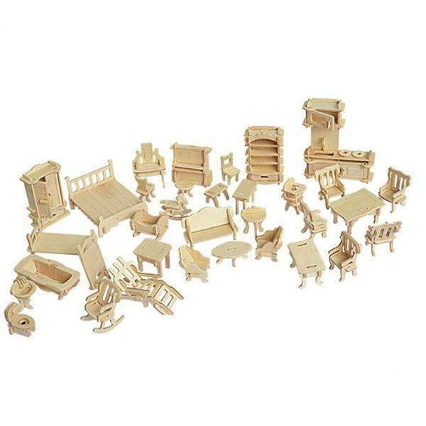 Shopeholic:3D Wooden Furniture Puzzle
