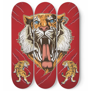 Shopeholic:3 Skateboard Wall Art - Tiger Roar