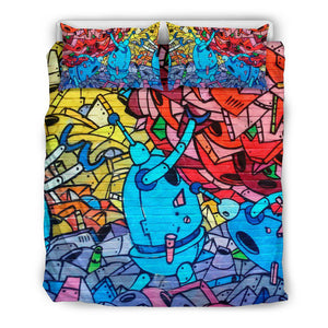 Robot Junk Graffiti Bedding Sets