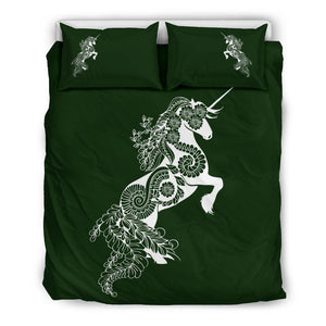 Mandala Unicorn - Olive - Bedding Set