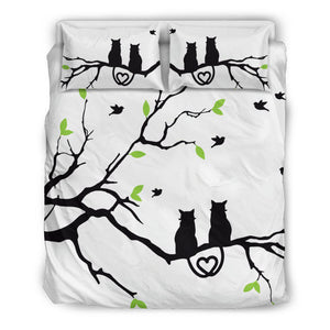 Shopeholic:The Cat Love Bedding Set