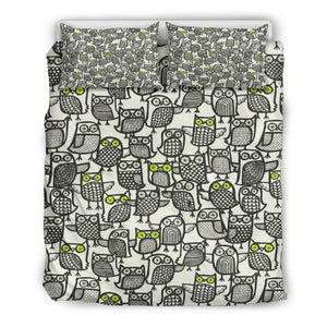 Owl Doodles Bedding Set
