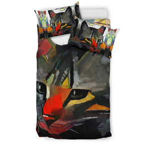Shopeholic:Art Cat Bedding Set