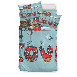 Shopeholic:Owl Love Bedding Set