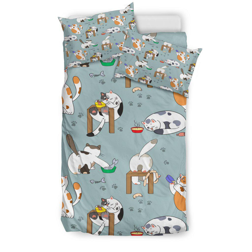 Shopeholic:Cat Acts Bedding Set
