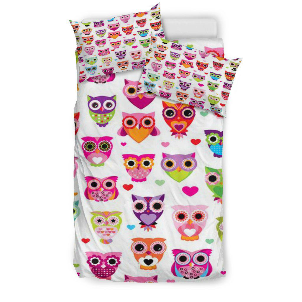 Shopeholic:Colorful Owls Bedding Set