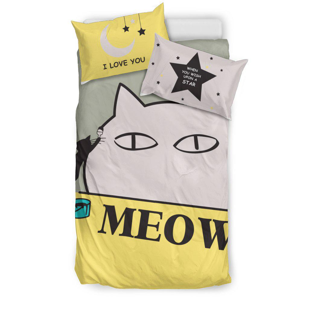 Shopeholic:Cat Meow Bedding Set